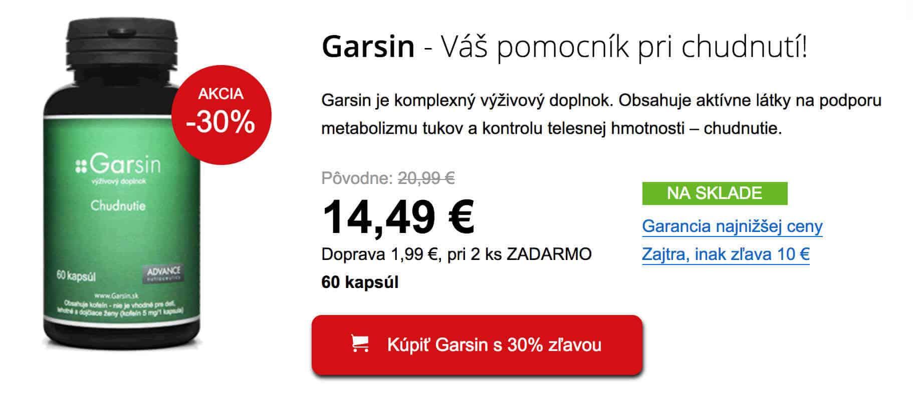 Tabletky na chudnutie Garsin sa radia medzi najlepšie
