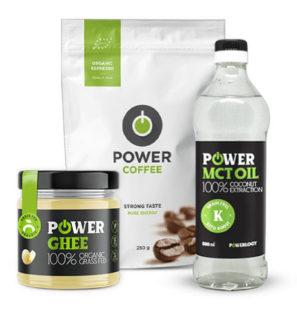 Kokosový olej MCT, Power coffee a Ghee maslo - trojbalenie