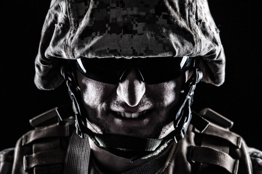 Zlý vojak vzbudzujúci strach