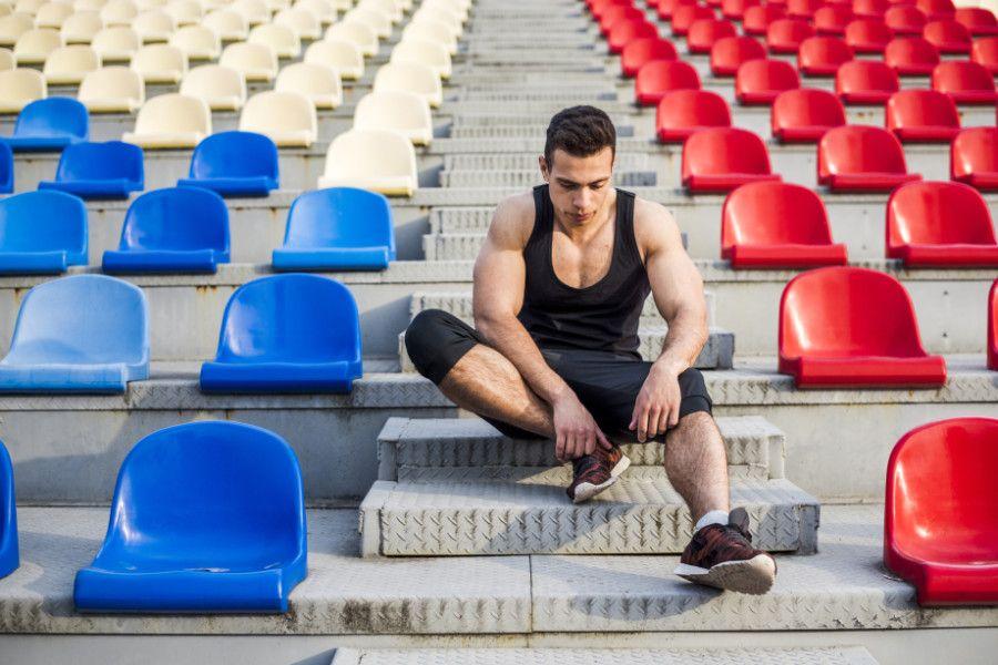 Športovec v hľadisku