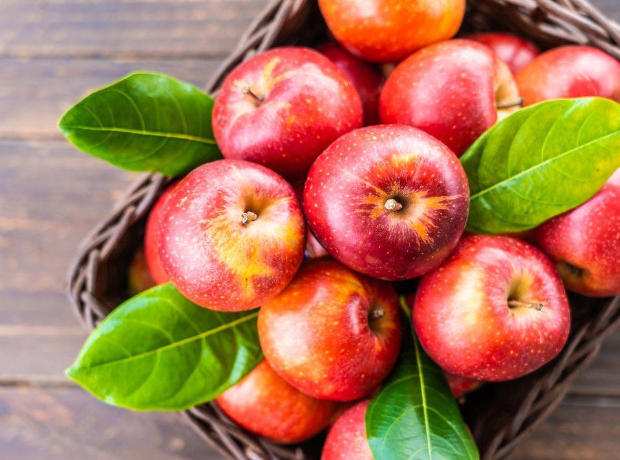 Jabĺčka v košíku