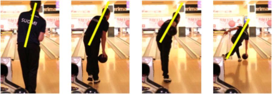 Bowlingový hráč - Technika hodu pri bowlingu