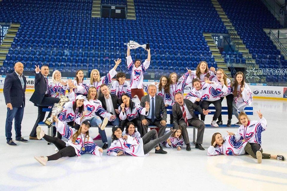 Ženský hokej v Poprade - trofej
