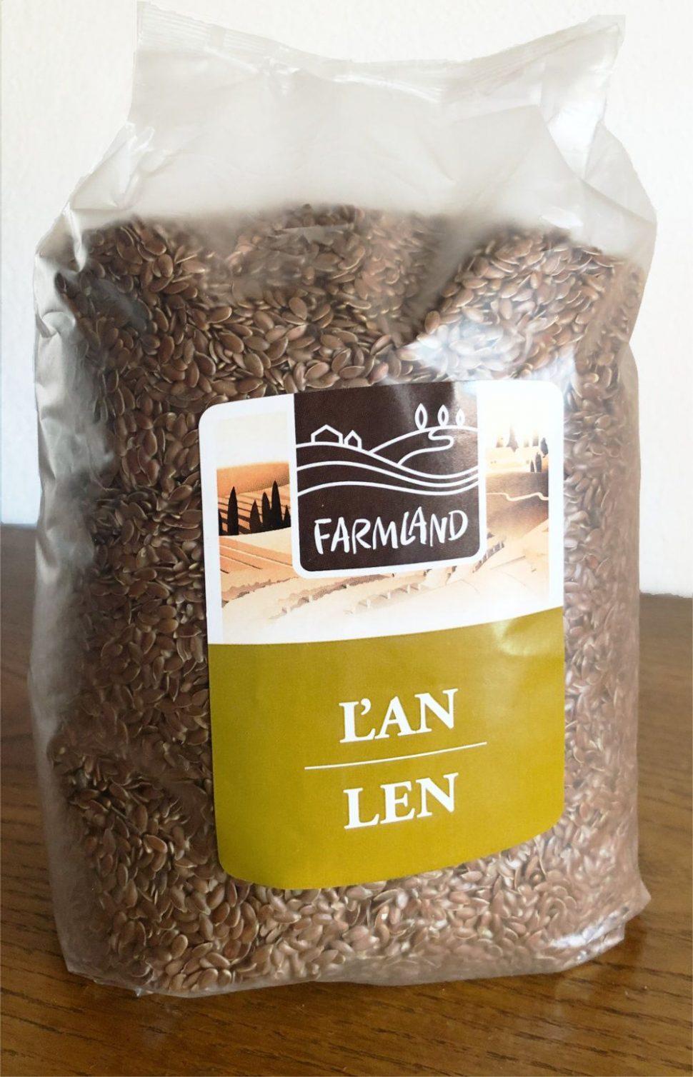 Ľanové semienka Farmland, Nutiva