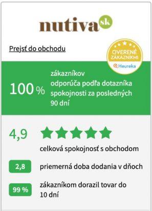 Eshop Nutiva má od zákazníkov Heureka 100% a ponúka kvalitné a zdravé potraviny aj bez obalu